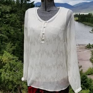NWOT Coldwater Creek Blouse with Gold Accents